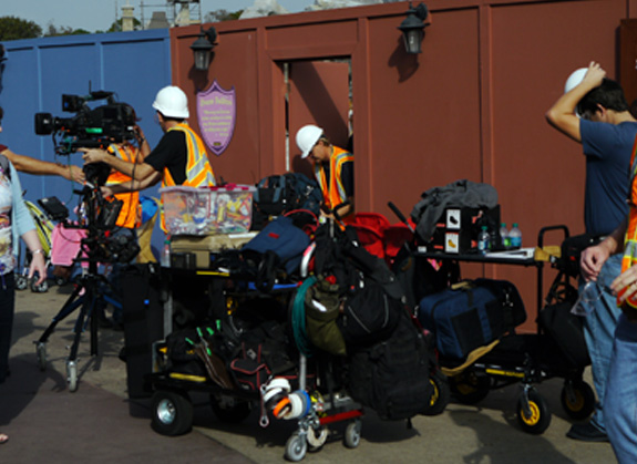Video crew with all their \'stuff\'