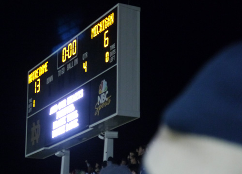 score of notre dame game www.ncaaf.scores